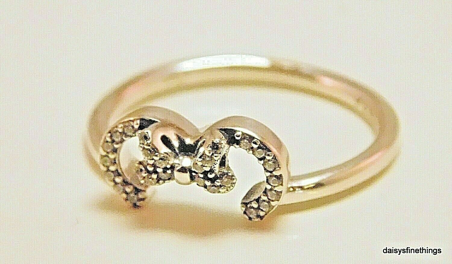 Nwt Authentic Pandora Disney Minnie Silhouette Ring #197509Cz Multiple Size Pertaining To Most Up To Date Disney Minnie Silhouette Rings (Gallery 24 of 25)