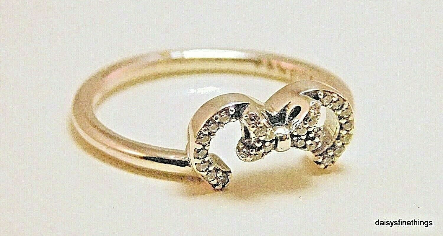 Nwt Authentic Pandora Disney Minnie Silhouette Ring #197509Cz Multiple Size With Regard To Most Popular Disney Minnie Silhouette Rings (Gallery 22 of 25)
