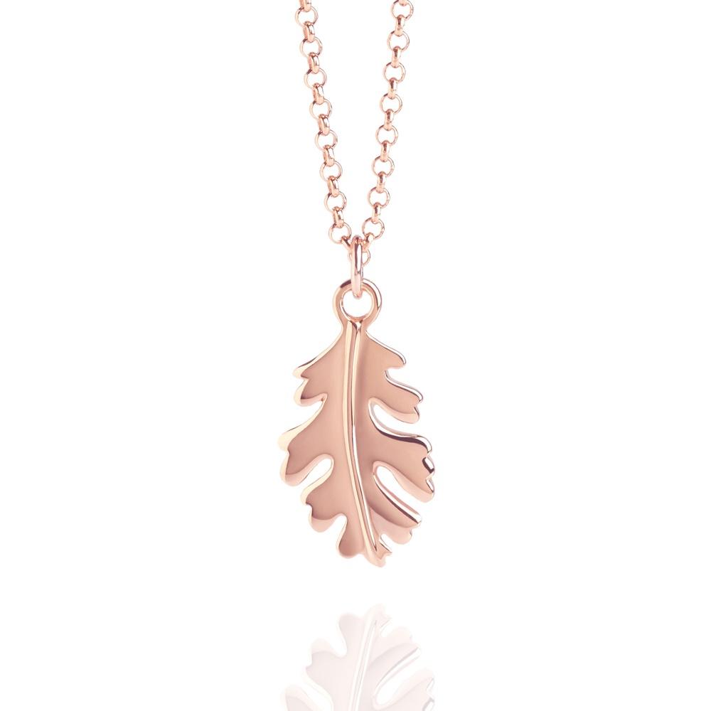 Oak Leaf Necklace Rose Gold For Most Recently Released Oak Leaf Necklaces (Gallery 8 of 25)