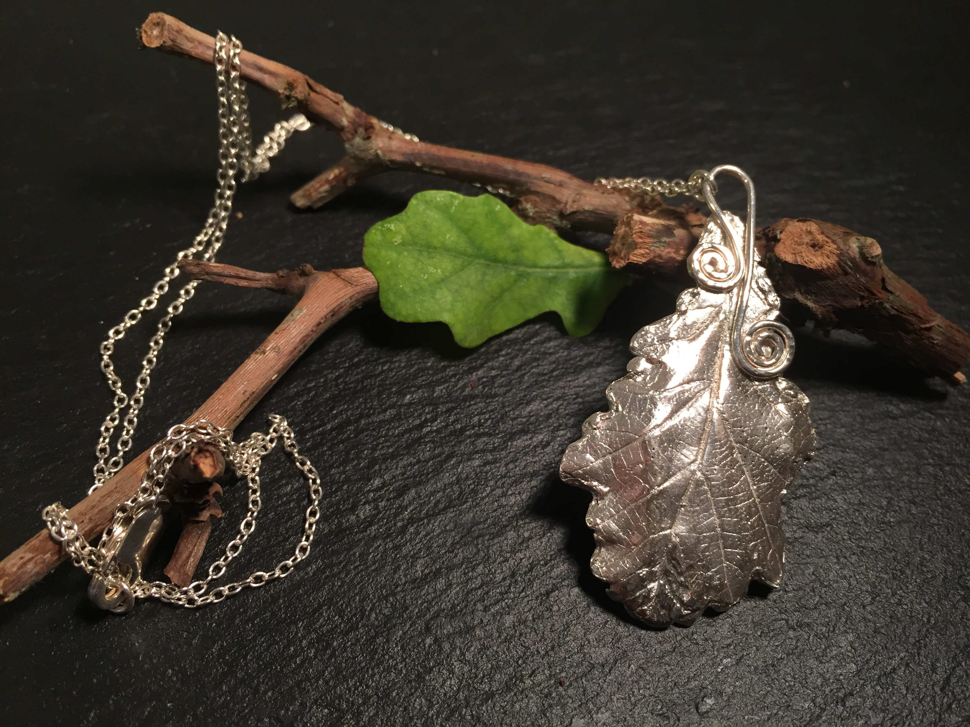 Oak Leaf Pendant Throughout Most Popular Oak Leaf Necklaces (Gallery 22 of 25)
