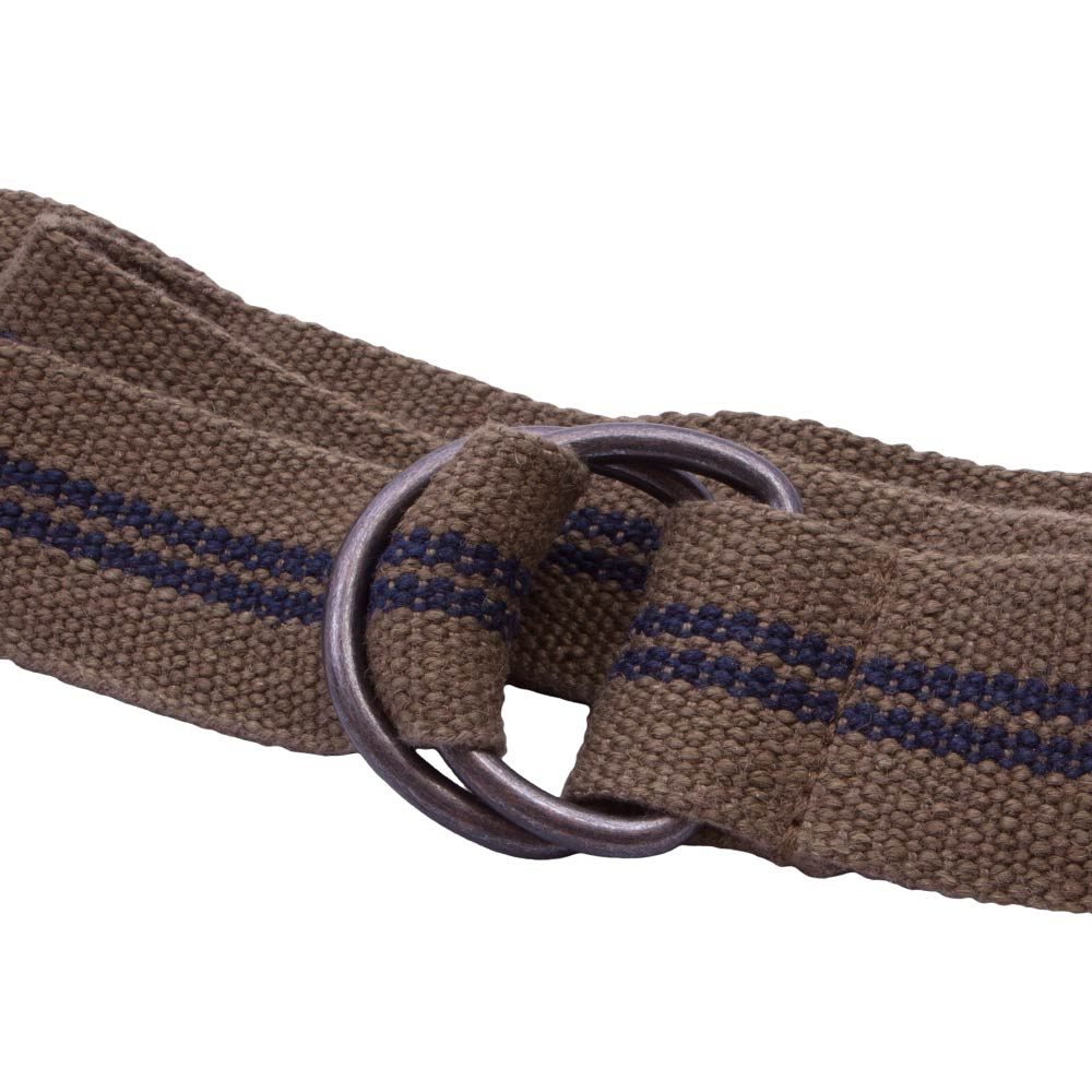 Olive Webbing D Ring Belt With Blue Stripes – National Webbing Products Pertaining To Latest Blue Stripes Rings (Gallery 18 of 25)