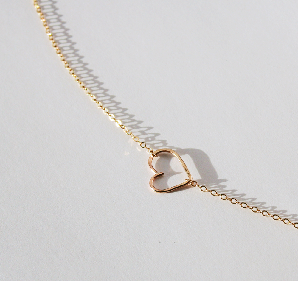 Open Heart Necklace, Hammered Heart With Newest Asymmetrical Heart Necklaces (Gallery 20 of 25)