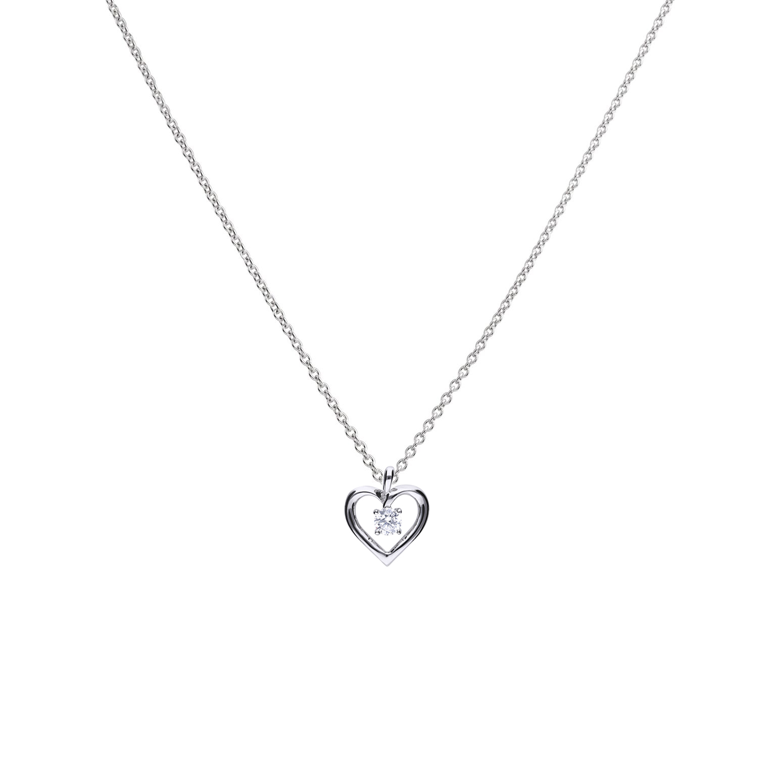 Open Heart Pendant – Diamonfire Inside Best And Newest Interlocked Hearts Collier Necklaces (View 13 of 25)