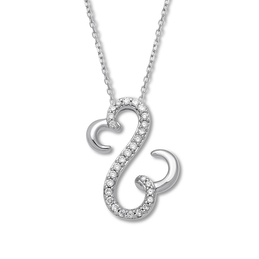 Open Hearts Necklace 1/2 Ct Tw Diamonds 10K White Gold – 211407109 Regarding Most Up To Date Open Heart Necklaces (View 13 of 25)