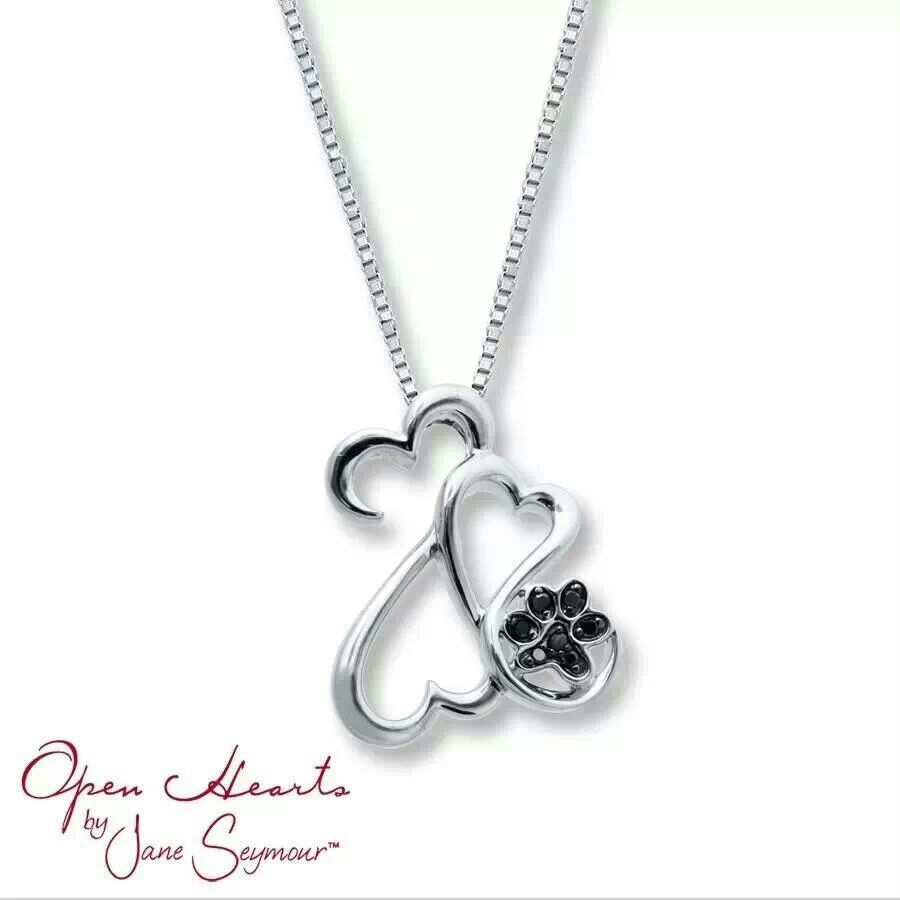 Open Hearts W/ A Paw Print! Maybe This One Instead! Such A Hard For Most Current Sparkling Open Heart Necklaces (Gallery 22 of 25)