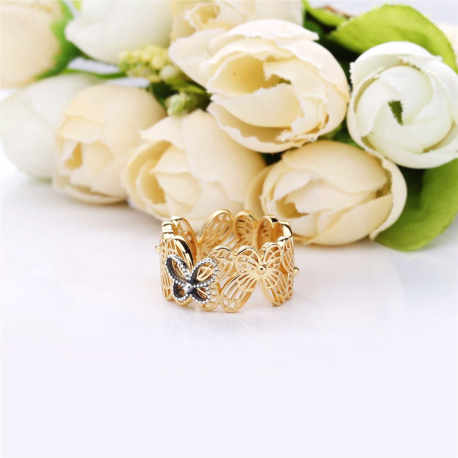 Openwork Butterflies Ring, Pandora Shine™ 167947 For Latest Openwork Butterfly Rings (Gallery 15 of 25)
