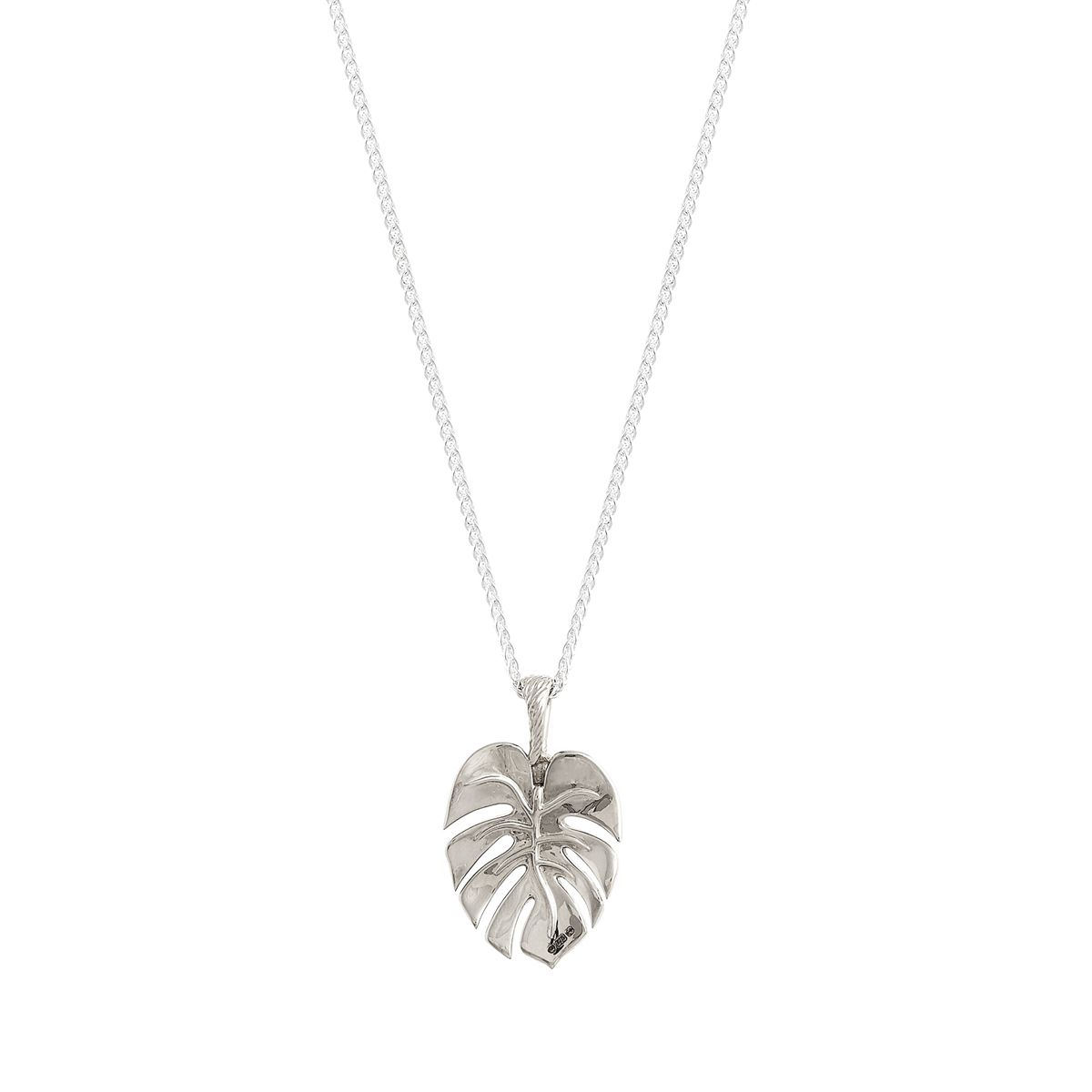 Palm Leaf Silver Necklace | Wire Wrapping Jewelry | Leaf Jewelry Within Most Current Tropical Palm Pendant Necklaces (View 3 of 25)