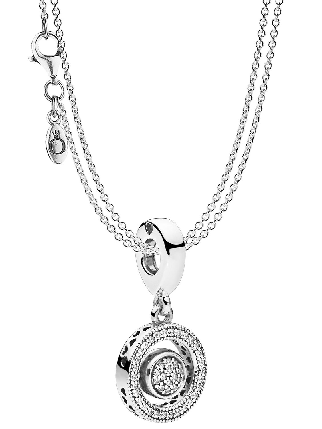 Pandora 08591 Necklace With Charm Pendant Logo Intended For Best And Newest Pandora Logo Pendant Necklaces (Gallery 5 of 25)