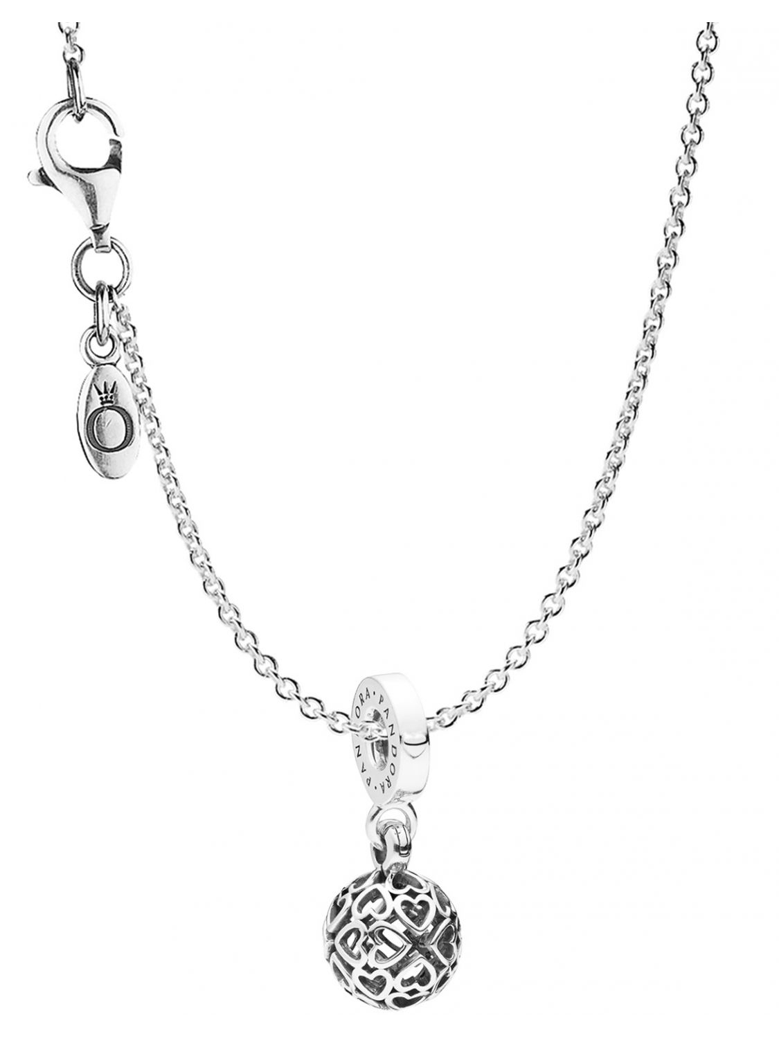 Pandora 08859 Necklace With Pendant Harmonious Hearts With Regard To 2019 Hearts Of Pandora Necklaces (View 8 of 25)