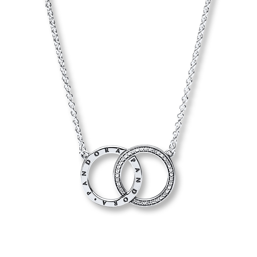 "Pandora 17.7"" Necklace Circles Sterling Silver – 802318004 – Jared Inside Best And Newest Entwined Circles Pandora Logo & Sparkle Rings (Gallery 16 of 25)"