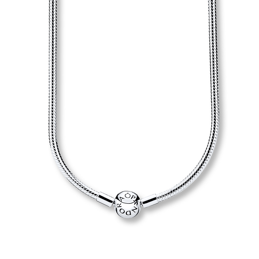 """Pandora 19.7"""" Necklace Sterling Silver Within 2020 Pandora Moments Snake Chain Necklaces (Gallery 4 of 25)"""