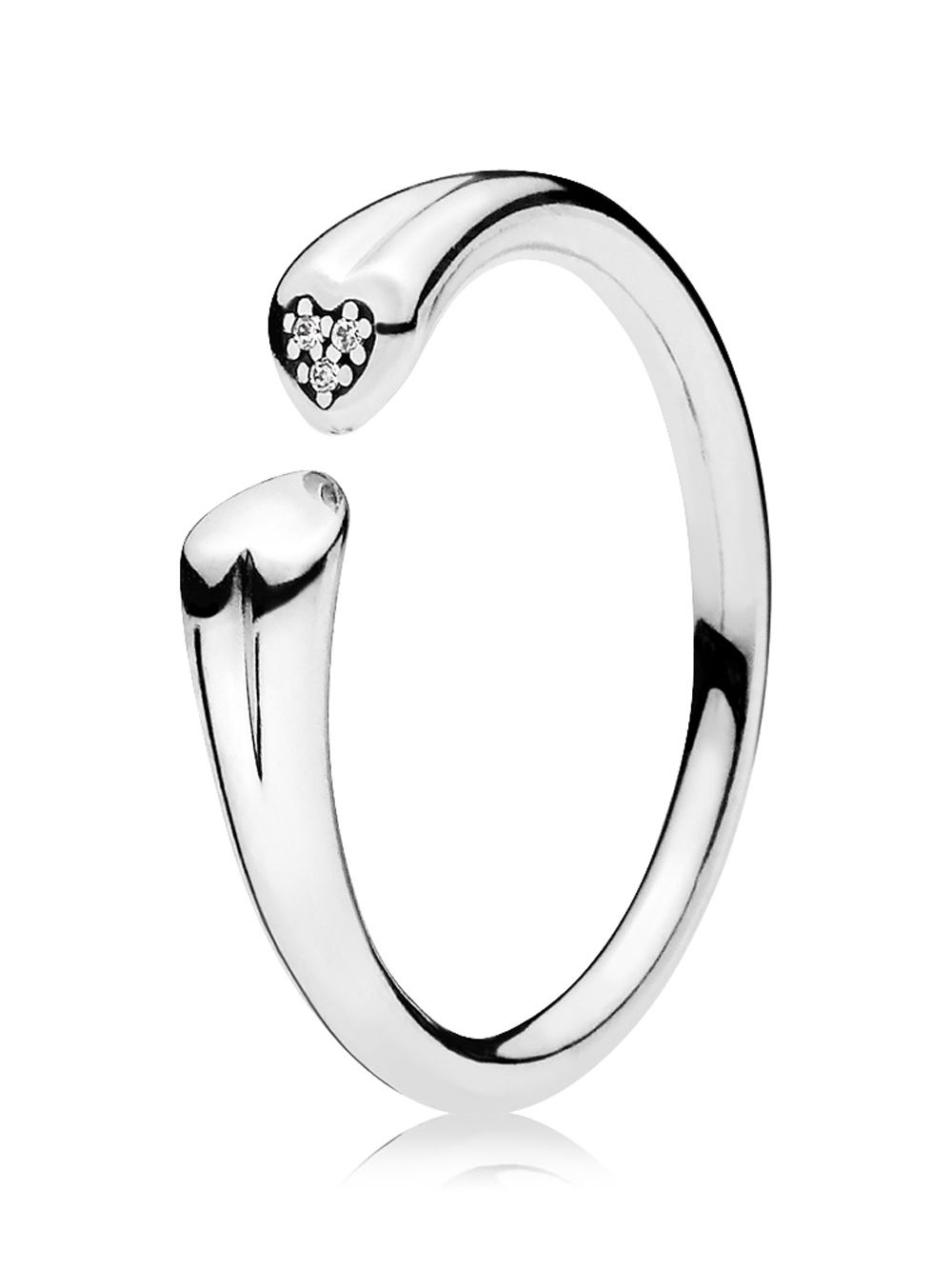 Pandora 196572Cz Ladies Ring Two Hearts Pertaining To Most Recently Released Pandora Logo & Hearts Rings (View 8 of 25)