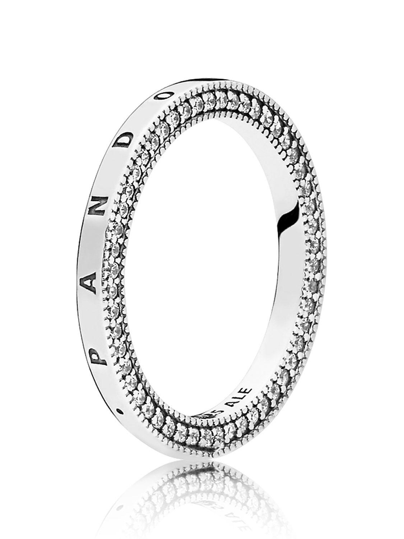 Pandora 197437Cz Damen Ring Herzen For Recent Pandora Logo Pavé Rings (View 10 of 25)