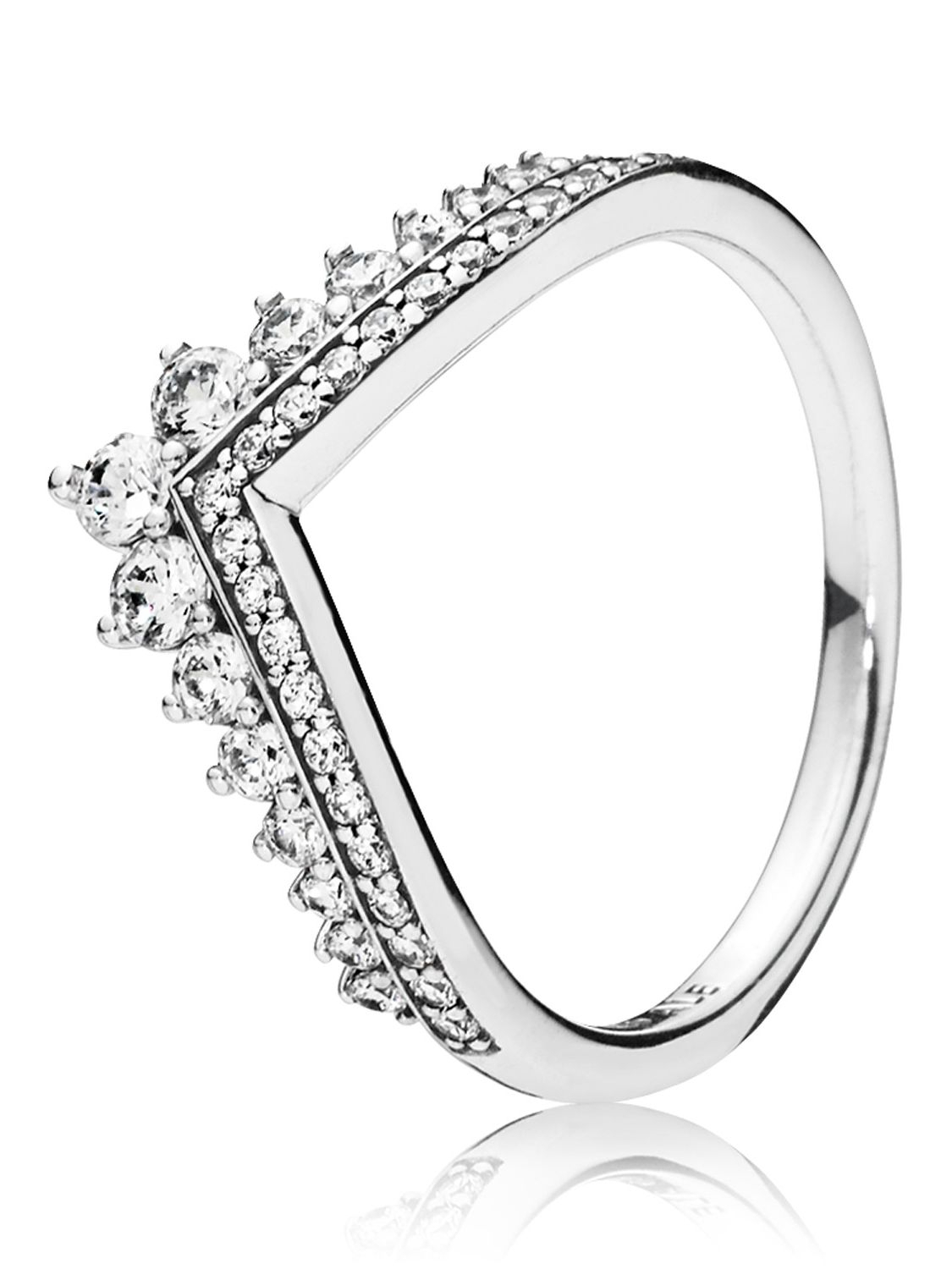 Pandora 197736Cz Ladies' Ring Princess Wish For Most Popular Sparkling & Polished Lines Rings (View 17 of 25)
