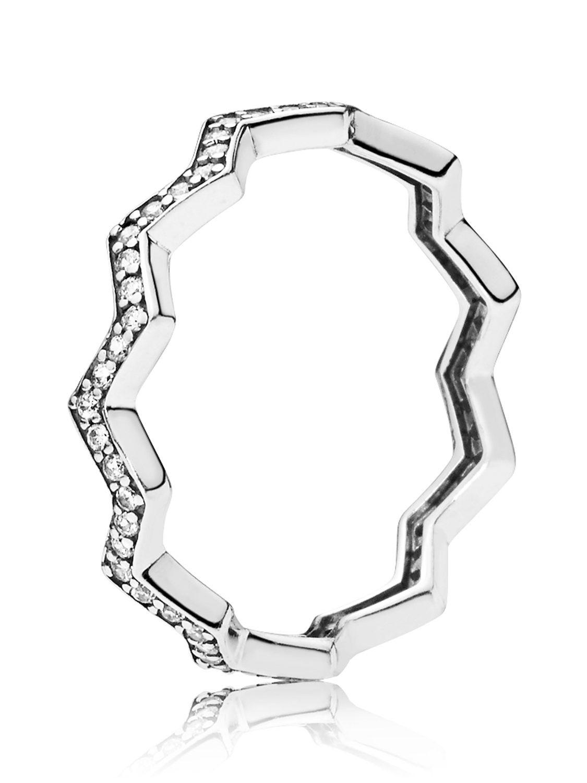 Pandora 197751cz Ladies' Ring Shimmering Zigzag Regarding Most Popular Polished Zigzag Rings (View 15 of 25)