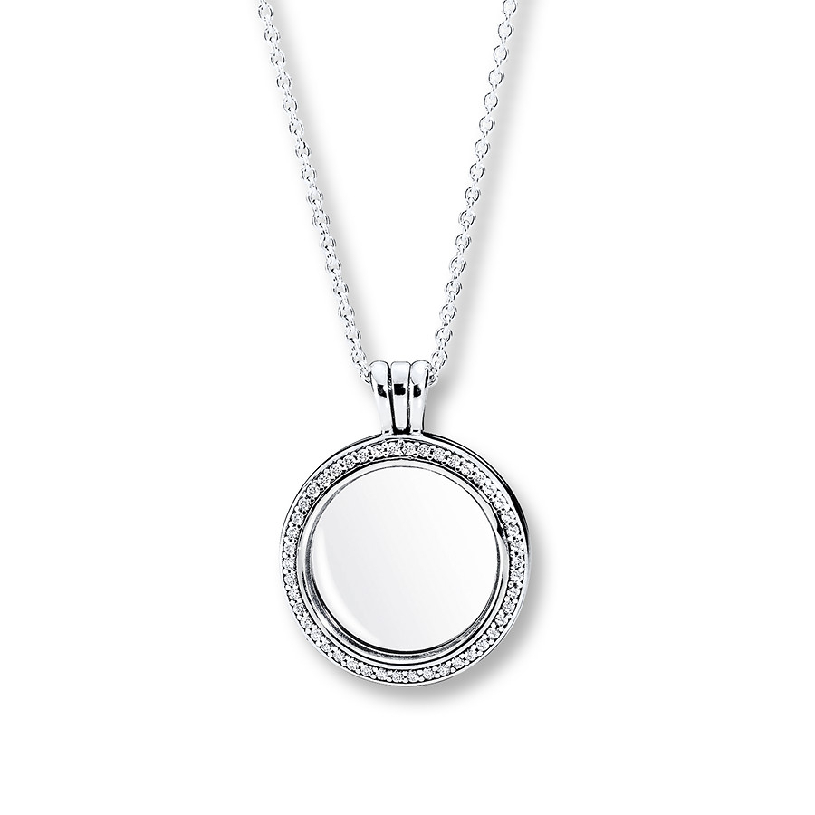 "Pandora 23.6"" Floating Locket Sparkling Sterling Silver Pertaining To 2020 Pandora Lockets Logo Necklaces (Gallery 11 of 25)"