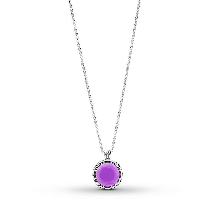 "Pandora 23.6"" Floating Locket Synthetic Amethyst St (View 7 of 25)"