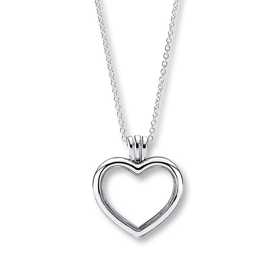 "Pandora 23.6"" Locket Floating Heart Sterling Silver With Regard To Most Recent Pandora Lockets Logo Necklaces (Gallery 19 of 25)"