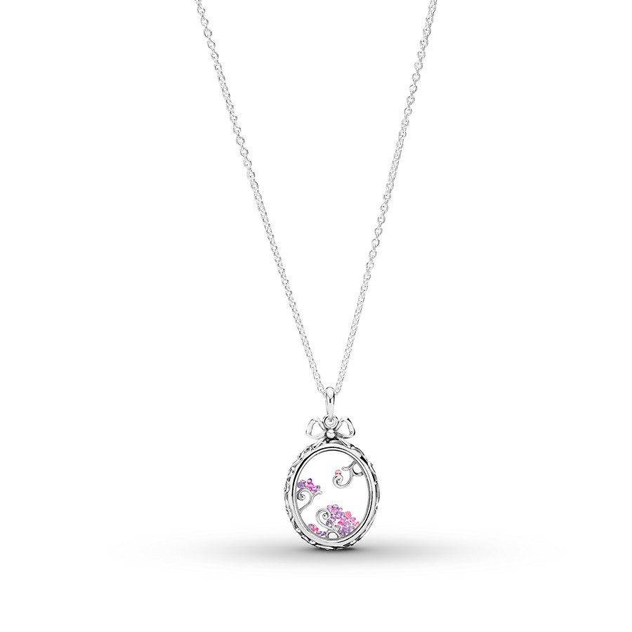 "Pandora 27.6"" Necklace Locket Of Dazzle Sterling Silver Within Current Pandora Moments Medium O Pendant Necklaces (Gallery 11 of 25)"