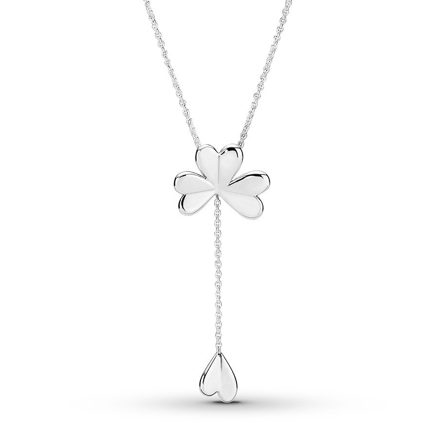"Pandora 27.6"" Necklace Lucky Four Leaf Clover Sterling Silver Within Current Lucky Four Leaf Clover Y  Necklaces (Gallery 1 of 25)"