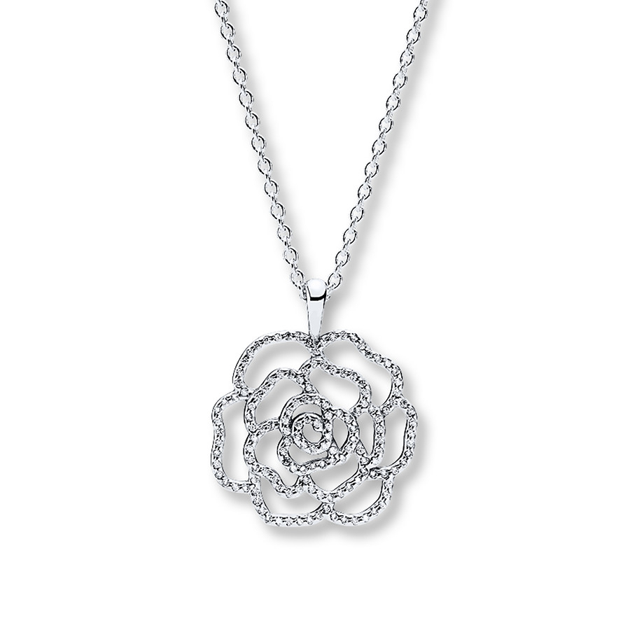 """Pandora 35.4"""" Necklace Shimmering Rose Sterling Silver Throughout Latest Shimmering Knot Pendant Necklaces (Gallery 10 of 25)"""