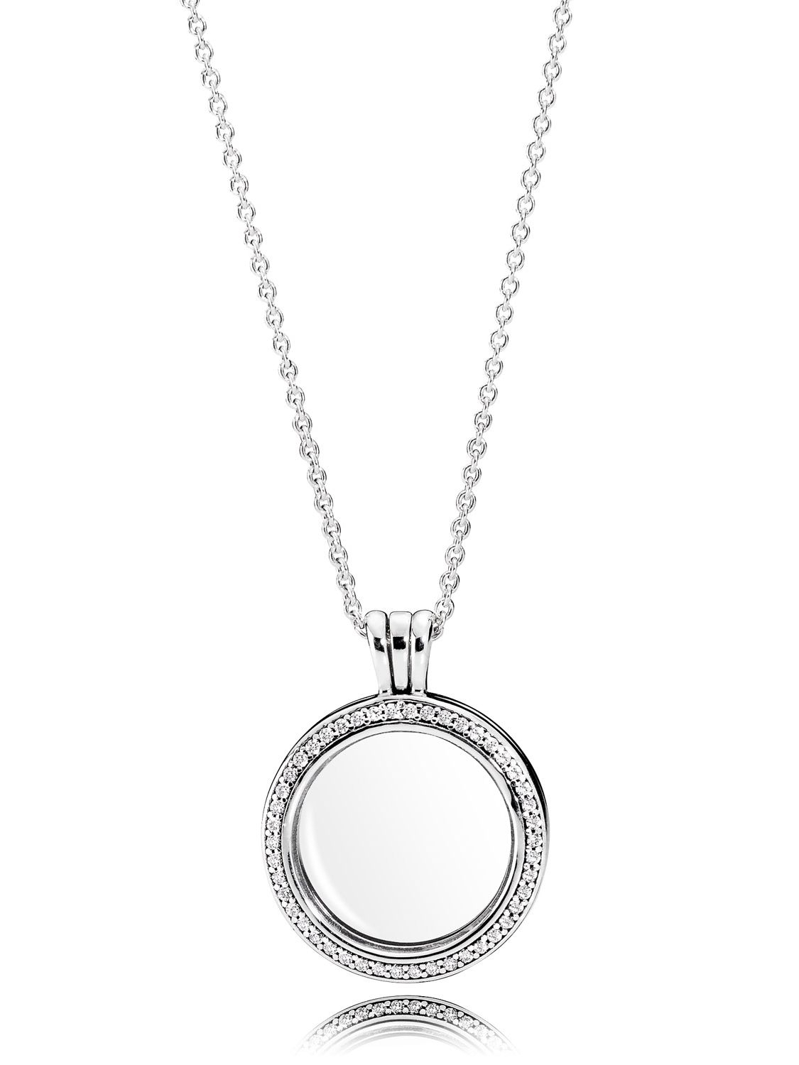 Pandora 396484cz 60 Sparkling Locket Necklace With Regard To Best And Newest Sparkling Gift Locket Element Necklaces (View 6 of 25)