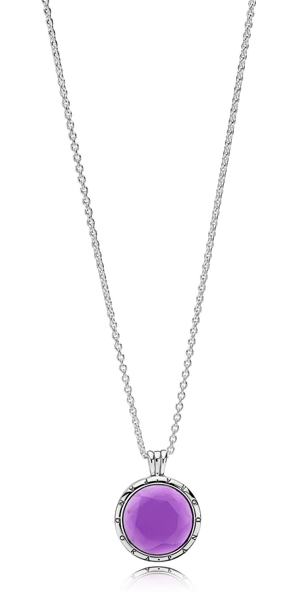 Pandora 397710sam 60 Ladies´ Necklace Faceted Floating Locket Regarding 2020 Pandora Lockets Logo Necklaces (View 15 of 25)