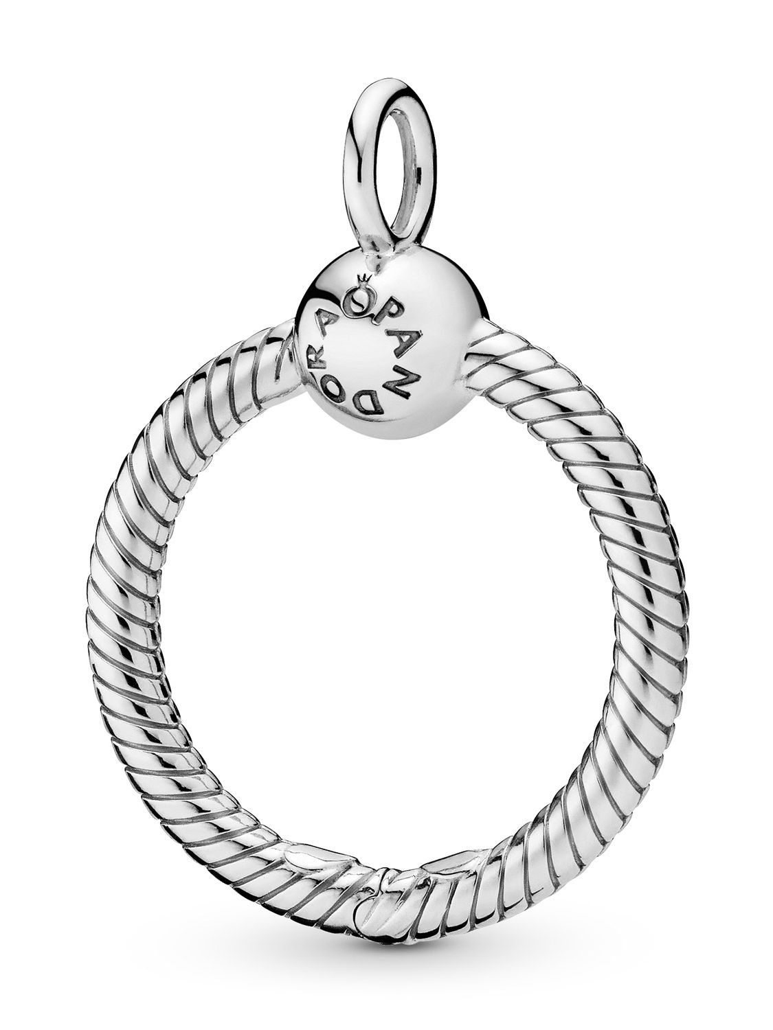 Pandora 398296 Pendant Moments O 25 Mm With Best And Newest Pandora Moments Small O Pendant Necklaces (Gallery 1 of 25)