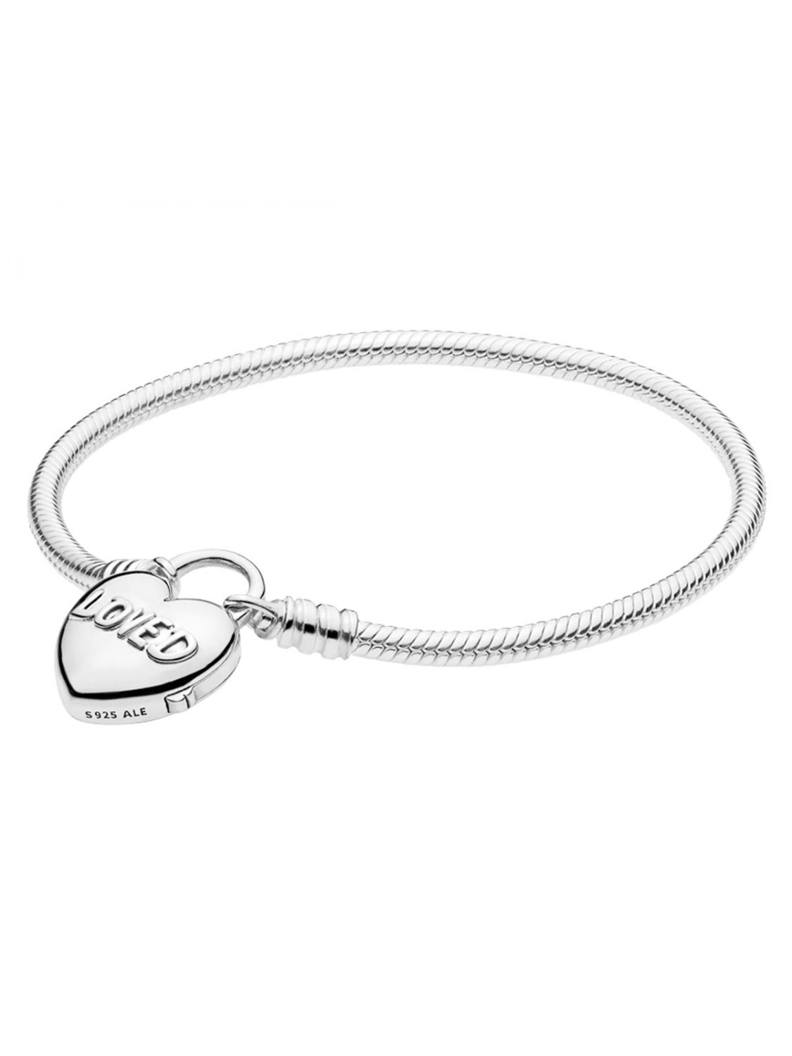 Pandora 597806 Bracelet Moments & You Are Loved Heart Throughout Most Recently Released Pandora Moments Snake Chain Necklaces (View 21 of 25)