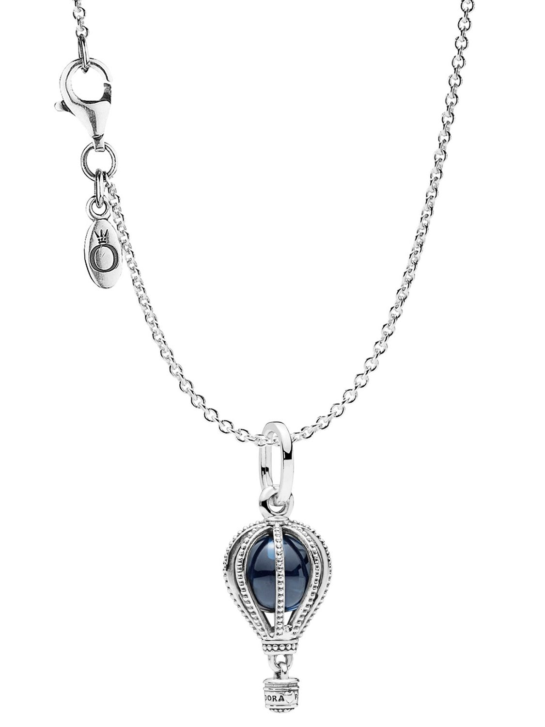 Pandora 75250 Necklace With Pendant Hot Air Balloon Silver 925 Throughout Recent Heart Of Winter Necklaces (View 11 of 25)