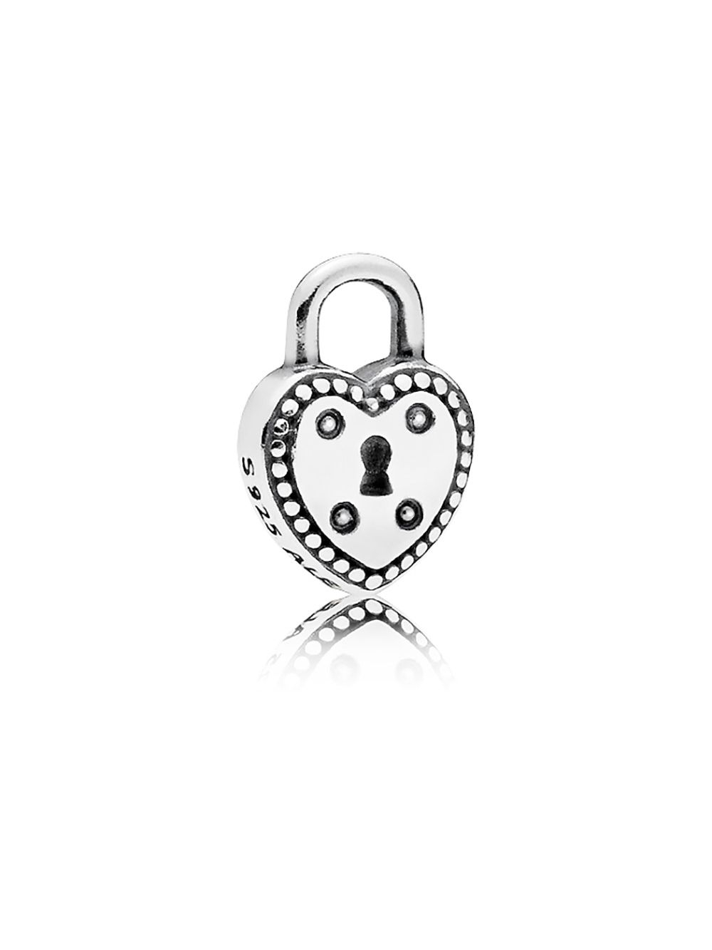 Pandora 796569 Heart Padlock Petite Element Regarding Best And Newest Heart Padlock Locket Element Necklaces (View 16 of 25)