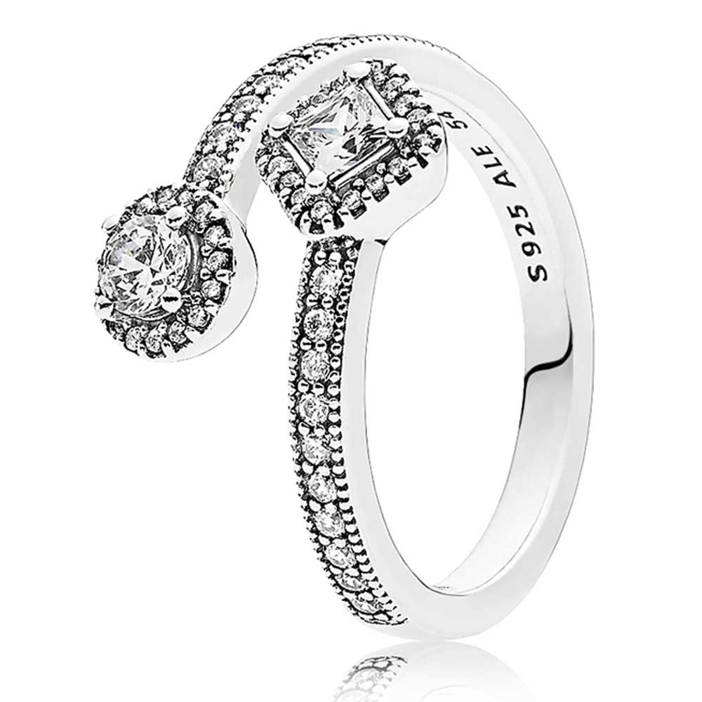 Pandora Abstract Elegance Ring 191031cz Within Current Elegant Sparkle Rings (View 3 of 25)