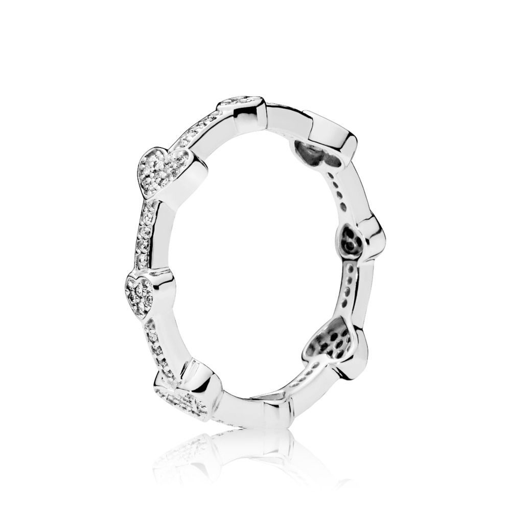 Pandora Alluring Hearts Ring Sterling Silber, Cubic Zirkonia With Current Pandora Logo & Hearts Rings (View 9 of 25)