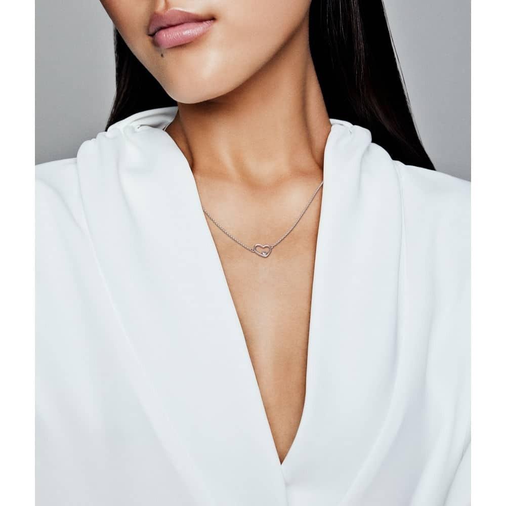 Pandora Asymmetric Heart Of Love Necklace 397797Cz With Latest Asymmetrical Heart Necklaces (View 19 of 25)