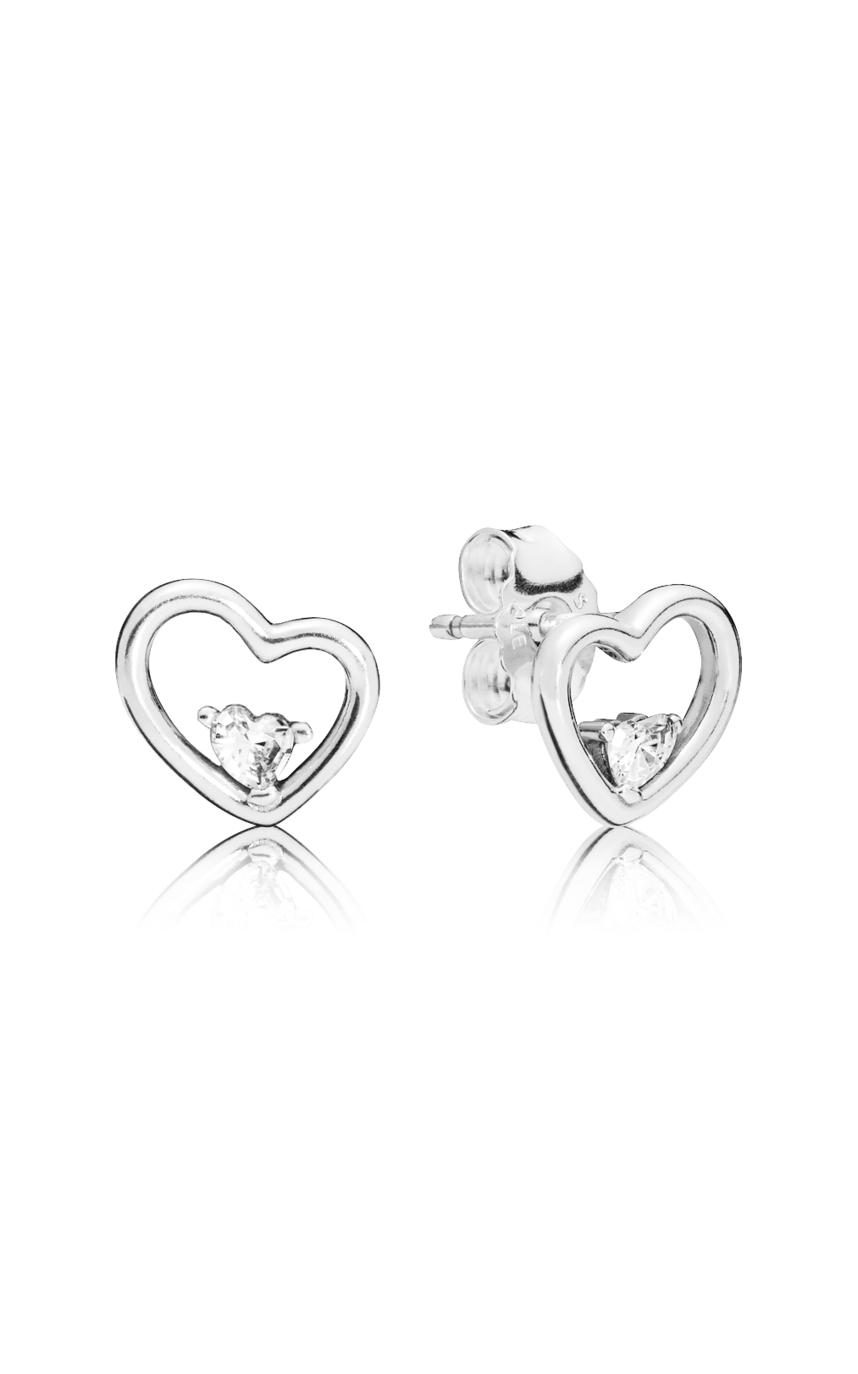 Pandora Asymmetric Hearts Of Love Earrings Clear Cz 297813Cz Regarding Recent Asymmetrical Heart Necklaces (View 20 of 25)