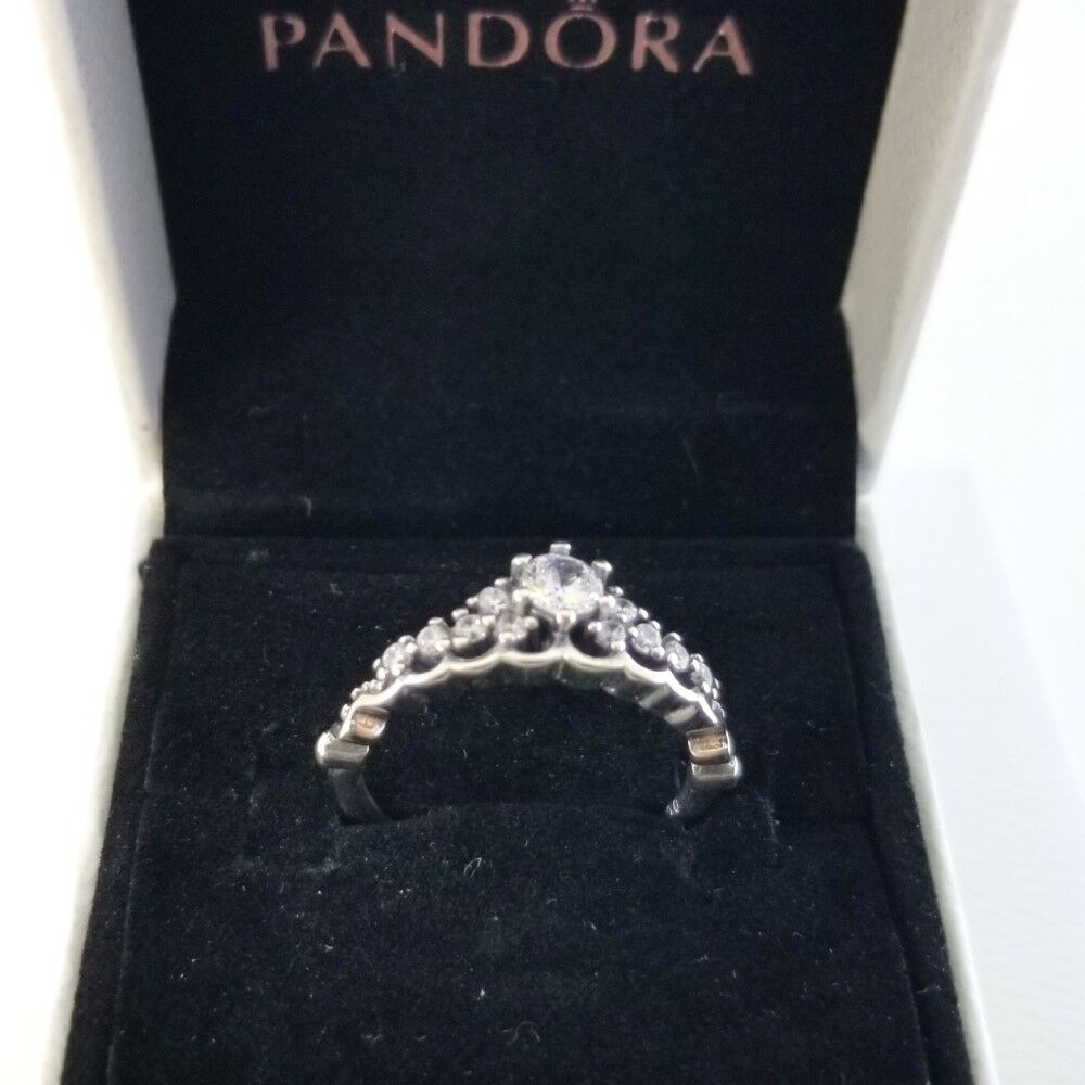 Pandora Authentic Rings Sterling Silver Fairytale Tiara Ring # 196226cz W/box | Ebay In Best And Newest Fairytale Tiara Rings (View 12 of 25)
