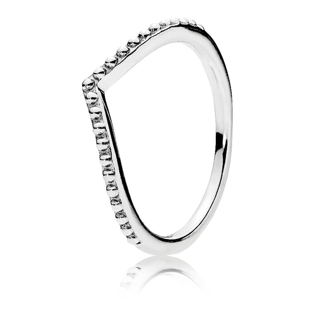 Pandora Beaded Wishbone Ring With Regard To Most Current Tiara Wishbone Rings (View 7 of 25)
