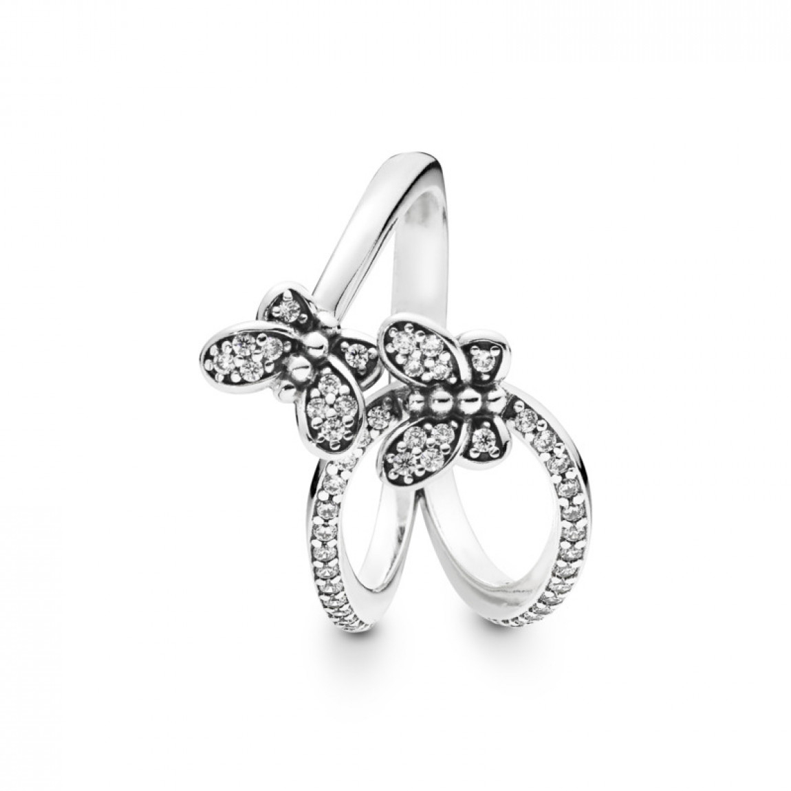 Pandora Bedazzling Butterflies Ring, Clear Cz Throughout Most Recent Sparkling Butterfly Open Rings (Gallery 2 of 25)