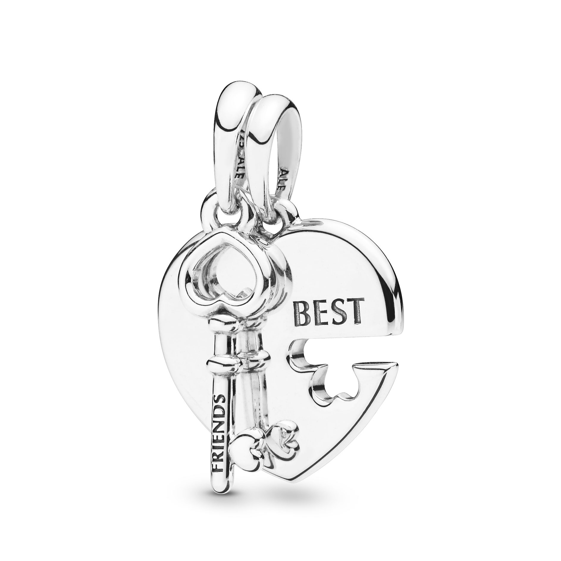 Pandora Best Friends Heart & Key Necklace Pendant – 398130 | Ben Intended For Most Popular Best Friends Heart & Key Necklaces Pendant Necklaces (View 8 of 25)
