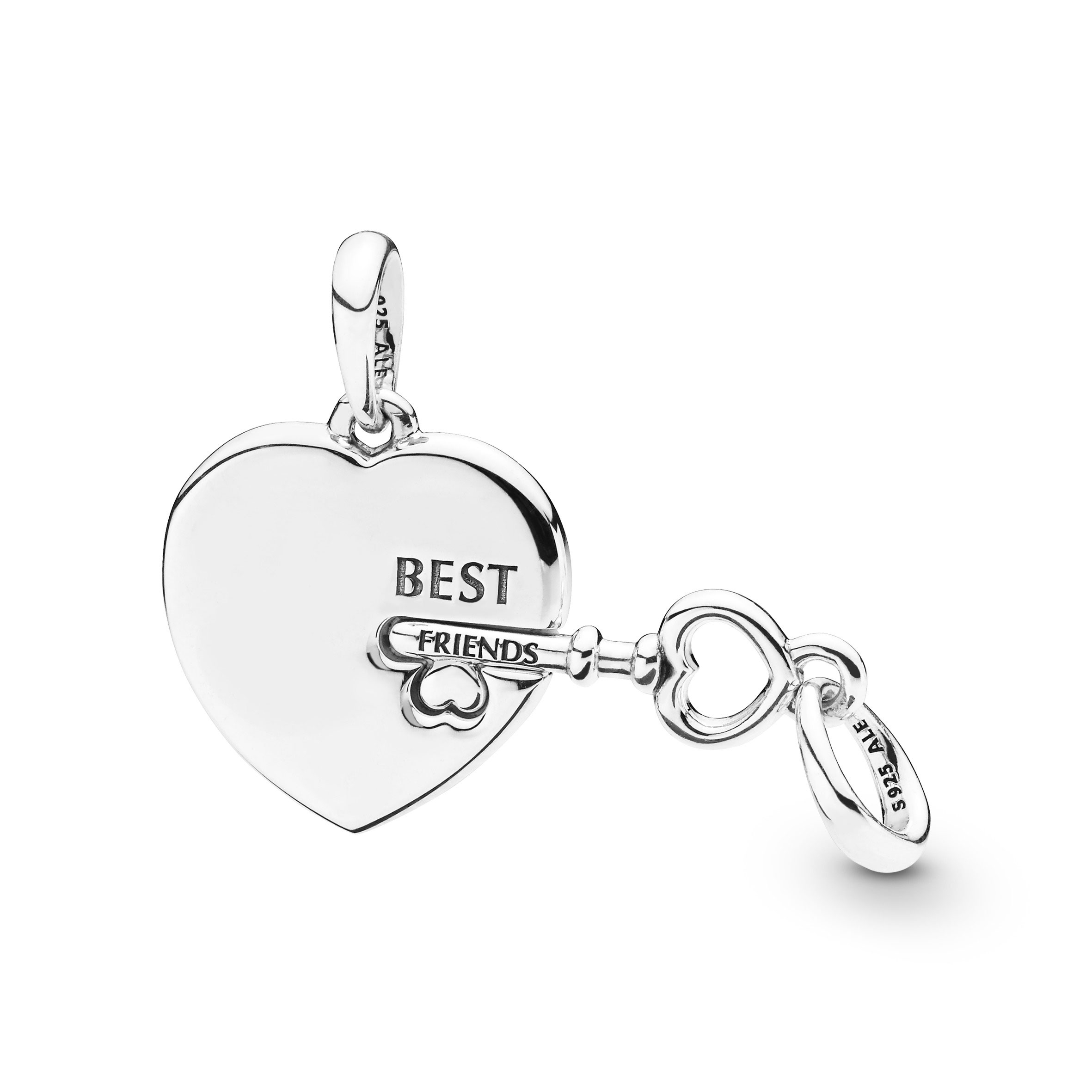 Pandora Best Friends Heart & Key Necklace Pendant – 398130 | Ben Regarding Most Recently Released Best Friends Heart & Key Necklaces Pendant Necklaces (Gallery 3 of 25)