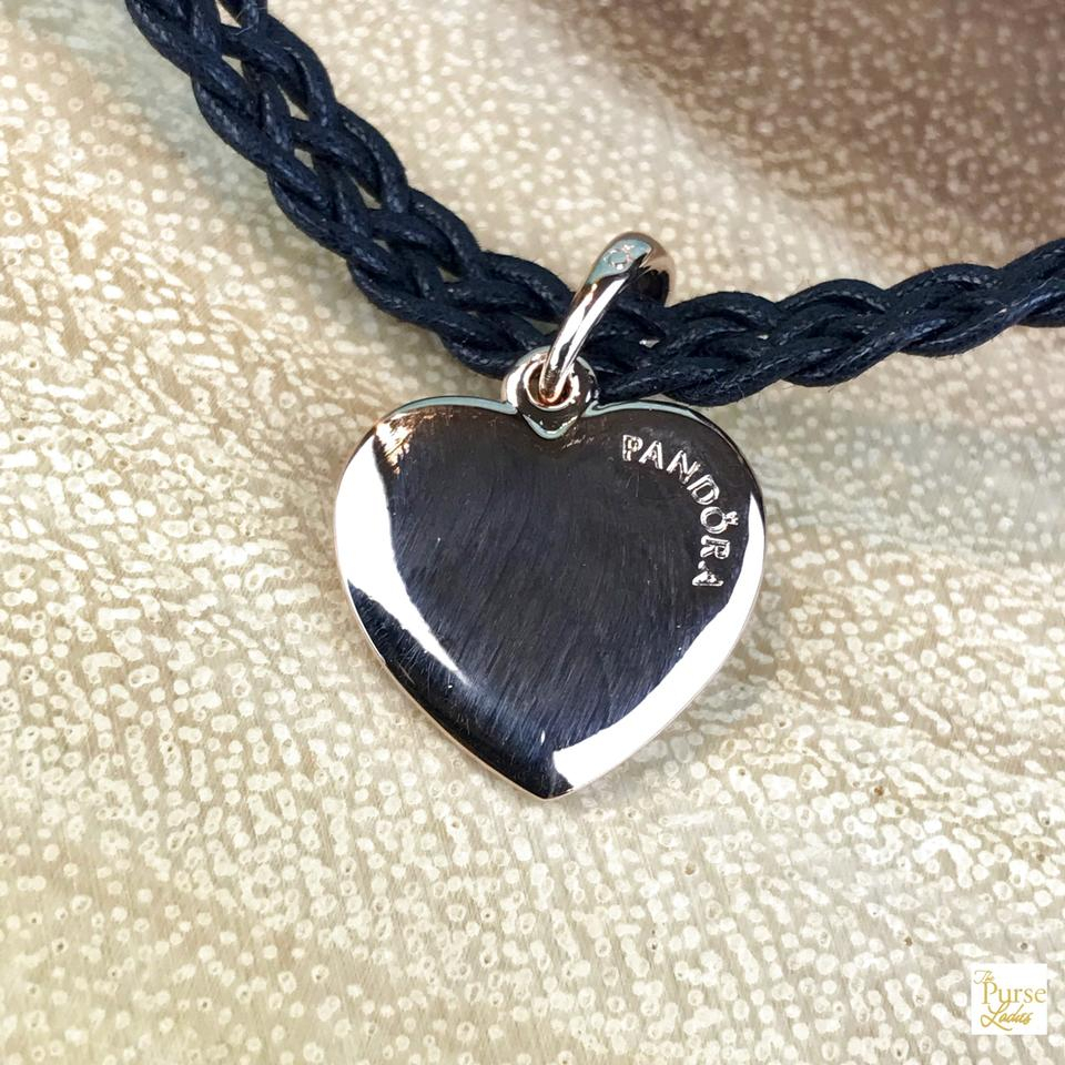 Pandora Black Fabric Choker Matte Brilliance Rose Heart Sale Necklace 35% Off Retail With Most Up To Date Matte Brilliance Heart Pendant Necklaces (View 16 of 25)