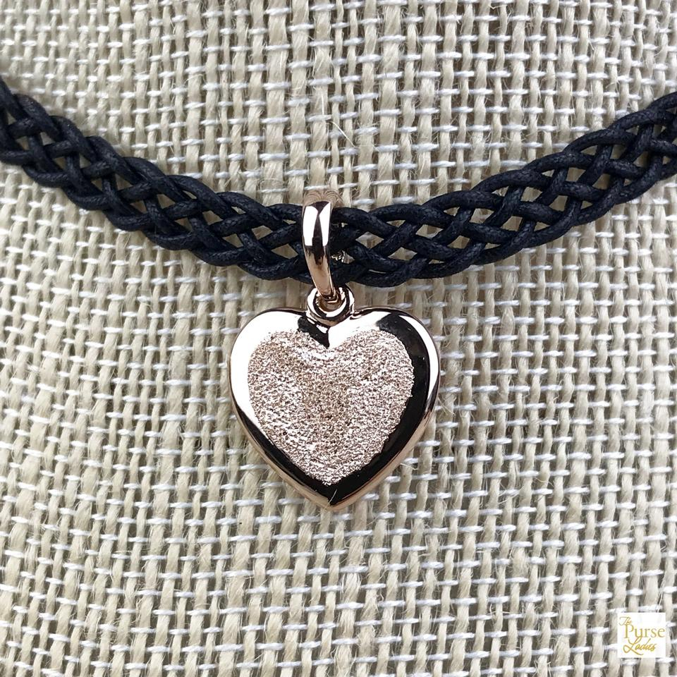 Pandora Black Fabric Choker Matte Brilliance Rose Heart Sale Necklace 35% Off Retail With Regard To Most Up To Date Matte Brilliance Heart Pendant Necklaces (View 13 of 25)