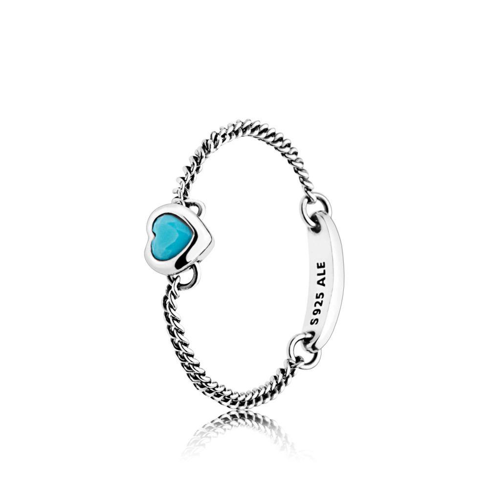 Pandora Blue Spirited Heart Ring Pertaining To Newest Heart Shaped Pandora Logo Rings (View 13 of 25)