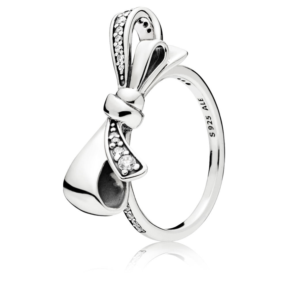 Pandora Brilliant Bow Ring Within Most Up To Date Classic Bow Rings (View 9 of 25)