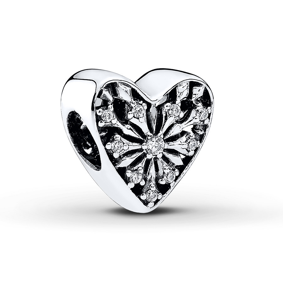 Pandora Charm Heart Of Winter Sterling Silver Regarding Most Recent Heart Of Winter Necklaces (View 13 of 25)