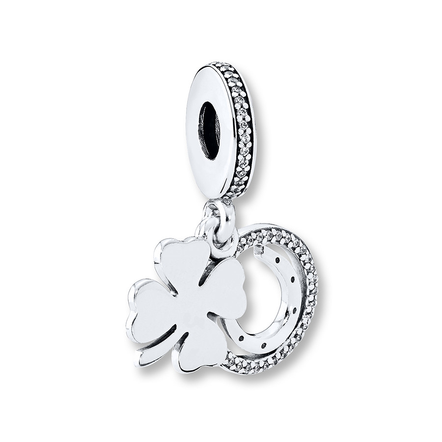 Pandora Charm Lucky Day Sterling Silver With Current Lucky Four Leaf Clover Dangle Charm Necklaces (View 17 of 25)