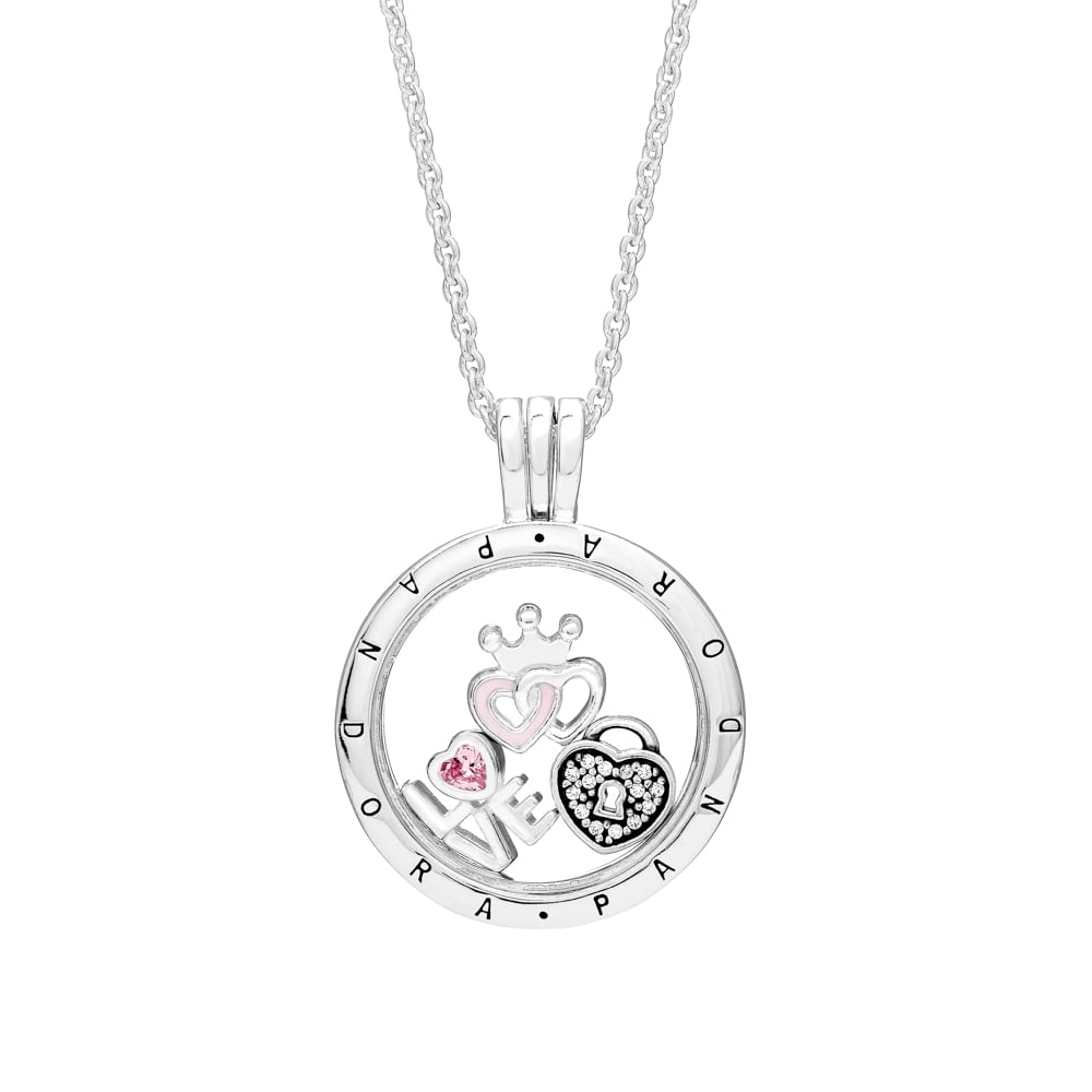 Pandora Charms Necklace In Most Recently Released Pandora Lockets Crown O Necklaces (View 3 of 25)