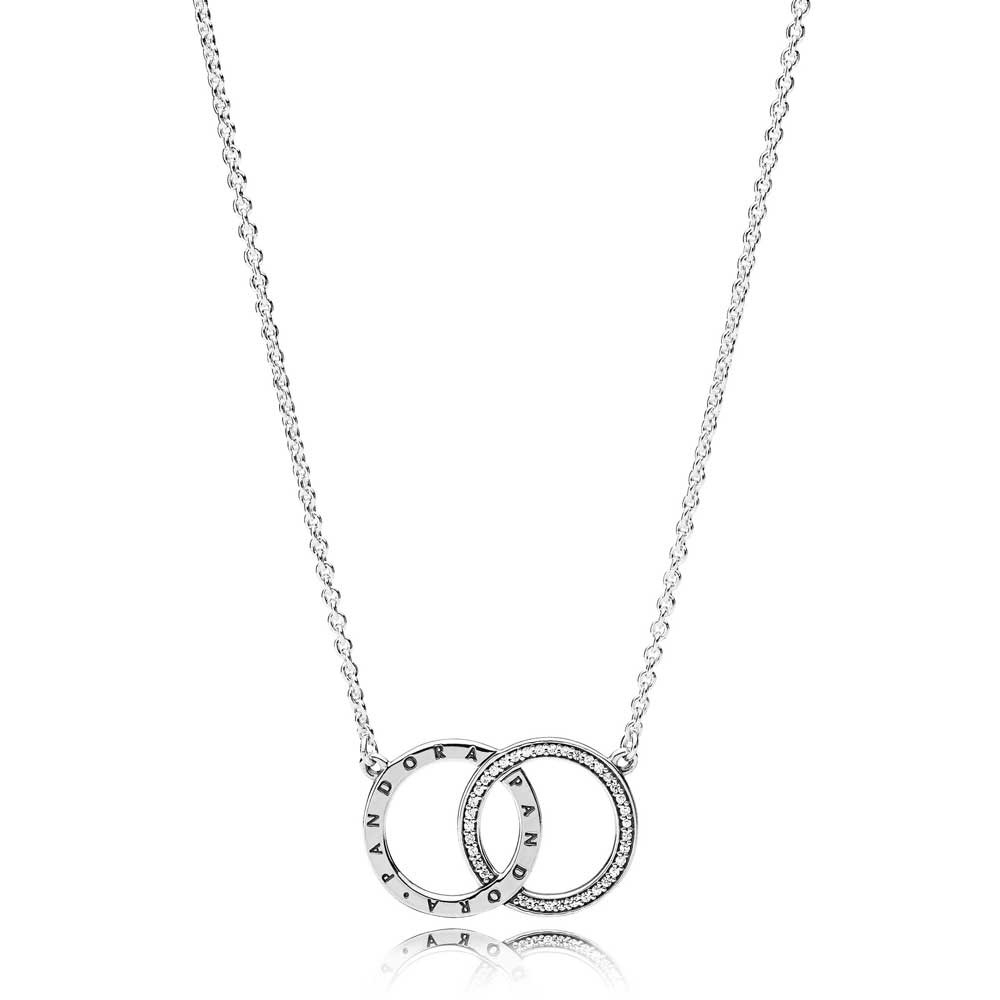 Pandora Circles Logo Necklace 396235Cz 45 Inside Most Up To Date Pandora Logo Pendant Necklaces (Gallery 4 of 25)