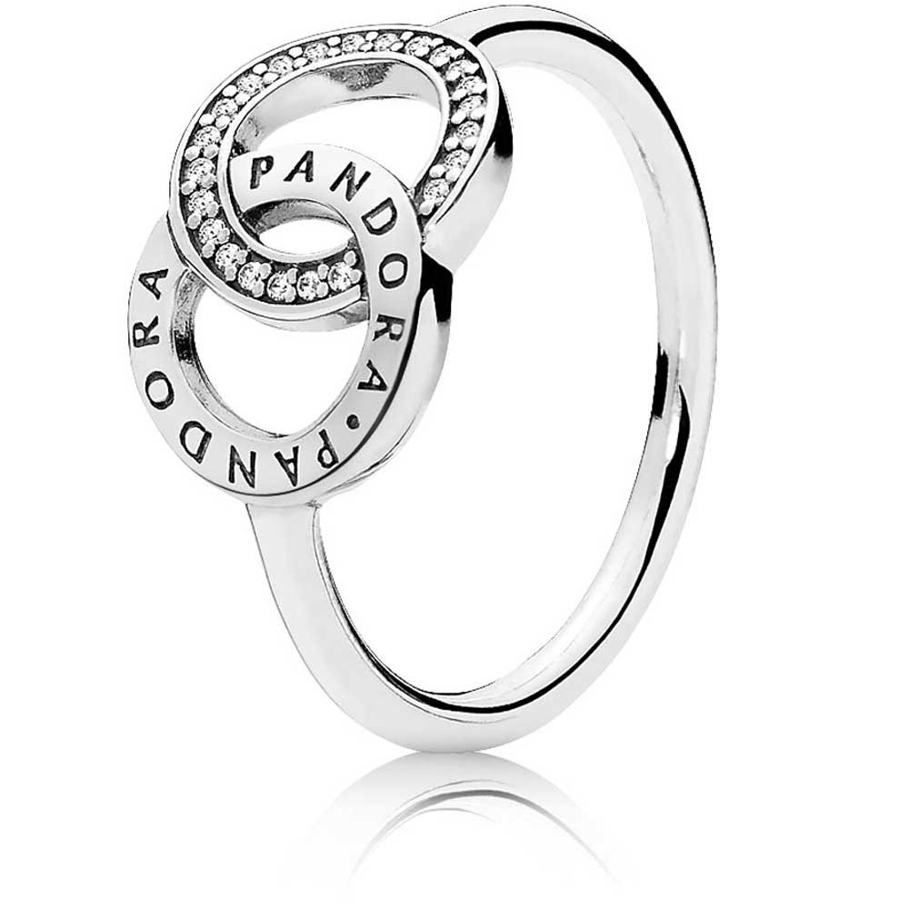 Featured Photo of Entwined Circles Pandora Logo & Sparkle Rings