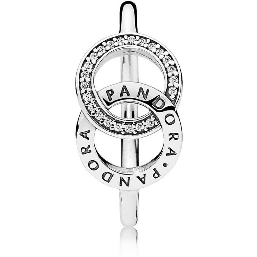 Pandora Circles Logo Ring 196326cz With 2018 Entwined Circles Pandora Logo & Sparkle Rings (View 2 of 25)